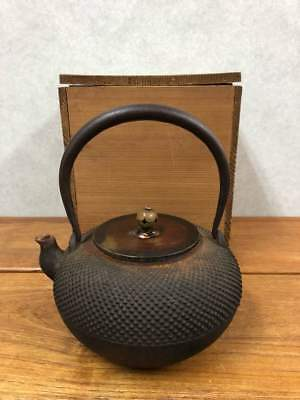 Tetsubin Teapot Tea Kettle Japanese Antique Old Iron T85