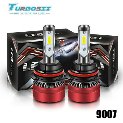 2-Side 1700W 255000LM 9007 HB5 LED Headlight Kit Hi/Lo Beam Bulb 6000K hid White