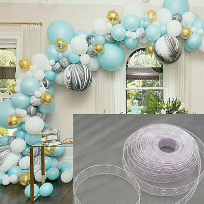 5M Plastic Balloon Chain Tape Arch Connect Strip for Wedding Party Decor DIY NEW