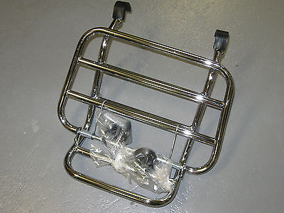 Vespa Piaggio S50 S125 Scooter Front Carrier Chrome Cuppini Italy