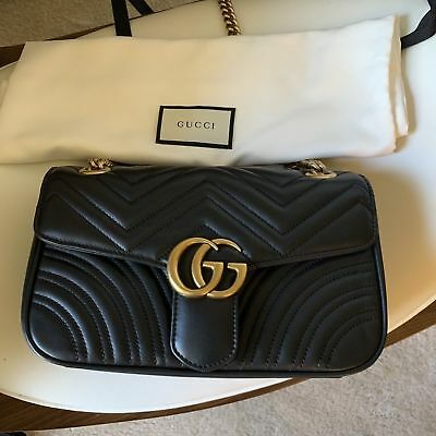 206060cc8dda AUTHENTIC GUCCI GG Marmont small matelassé shoulder bag $1290 ...