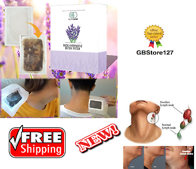 Nutrispot Neck Lymphatic Detox Patch Anti-Swelling Herbal Lymph Pads Foot Patch