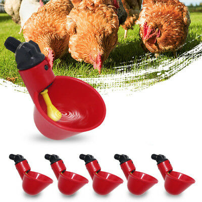 1pc/5pcs Chicken Automatic Chook Bird Poultry Feeder Drinker Waterer Cups Water