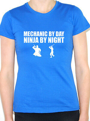 Cars MECHANIC BY DAY LEPRECHAUN Novelty Themed Womens T-Shirt Vehicle