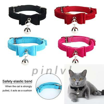 Fiber Paw Cat / Kitten collar with BELL Reflective Safety Elastic for safety