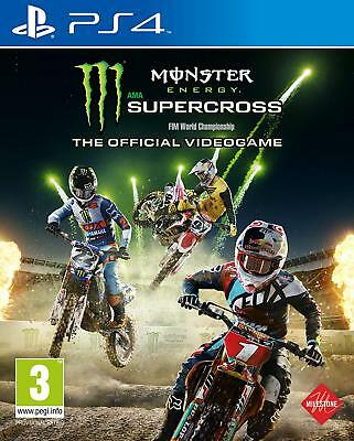 PS4 Gioco Monster Energy Supercross - The Ufficiale Videogame Merce Nuova