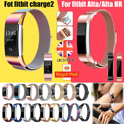 Strap Replacement For Fitbit Charge 2 / Fitbit Alta HR Milanese Stainless Steel