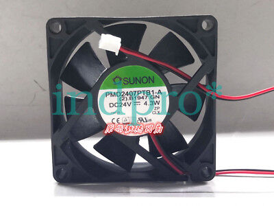 For SUNON PMD2407PTB1-A Inverter cooling fan DC24V 4.3W 70x70x25mm 2pin