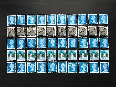 100 x  UNFRANKED   2nd class stamps  'OFF'  paper  -  Face Value £58
