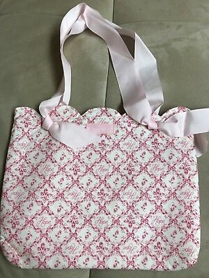 Longaberger Horizon Of Hope Tote Bag Breast Cancer Awareness Double Handle Pink