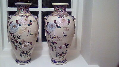 Antique large pair of Japanese vases  Stunning