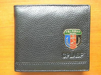 07's series China PLA Special Forces Badge Officer Genuine Leather Wallet,A