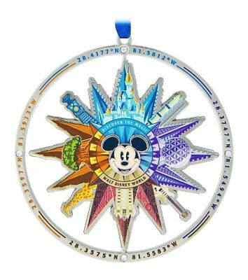 Disney Parks Walt Disney World Compass 4 Park Mickey Icon Metal Spinner Ornament