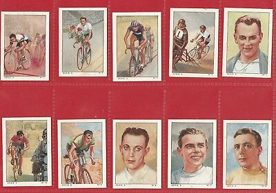 CIGARETTE / TRADE CARD SET - NESTLES FRANCE - CYCLING Series 8 - 1936 SET