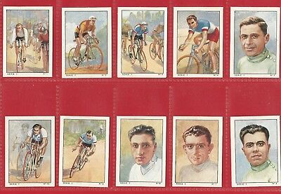 CIGARETTE / TRADE CARD SET - NESTLES FRANCE - CYCLING Series 7 - 1936 SET