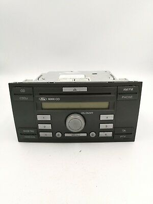 Ford Focus Fiesta Transit Big Face 6000 CD CDDJ Radio Stereo CD Player WITH CODE