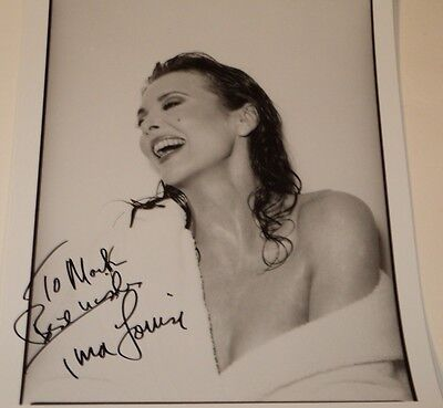 Tina Louise / Sexy Off Shoulder Robe /   8 X 10  B&w  Autographed  Photo
