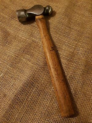 VINTAGE BRADES BALL PEIN HAMMER ENGINEERS TOOL 1LB 5OZ (with handle) BLACKSMITH