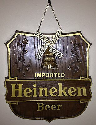 "Heineken Beer Signs ""Old World Shield"" NOS Windmill Party Bar ALMOST GONE!"