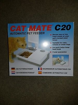 Cat MATE C20 AUTOMATIC PET FEEDER FOR A CAT KITTEN PUPPIES SMALL DOG 201C