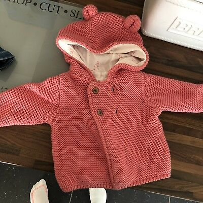 M&S Thick Cardigan Baby Girl 0-3 Months