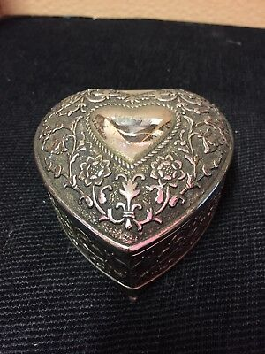 Vintage Chinese Silver Plated Trinket Box