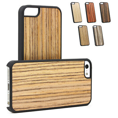Urcover®  Wood Style Backcase Bumper mobile Case Cover glass film