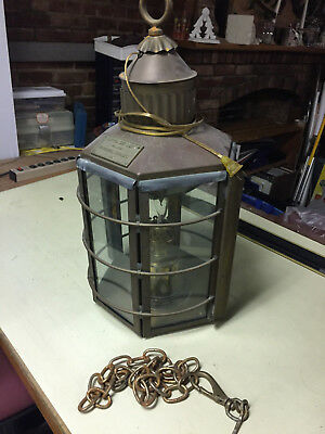 1869 Antique Clipper Ship Lamp - Old And Rare