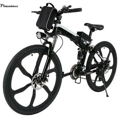 26'' Aluminum Alloy 21 Speed E-bike MTB Mountain Electric Power Bicycle 30kmh