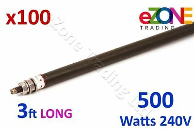 """100x Universal Wet/Dry Heating Element Bend-To-Shape 8mm Rod 36"""" 3ft 500W"""