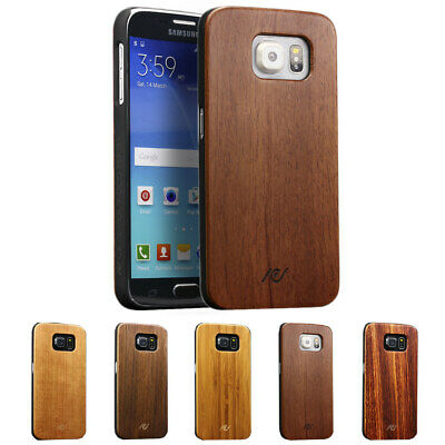 Urcover® real wood Back Protective Case Cover Case Shell Wood Style glass film
