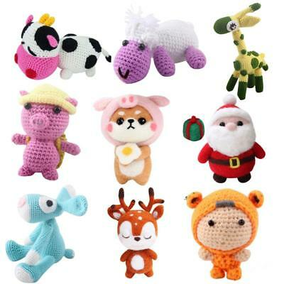 Adults Learn to Crochet Kit for Knitting Animals Doll Handmade Felting Projects