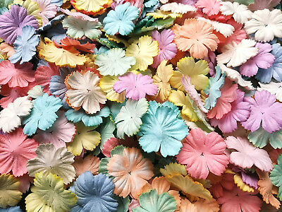 Mixed Pastel Carnation Flowers Mulberry Paper Scrapbooking Card Crafts Wedding