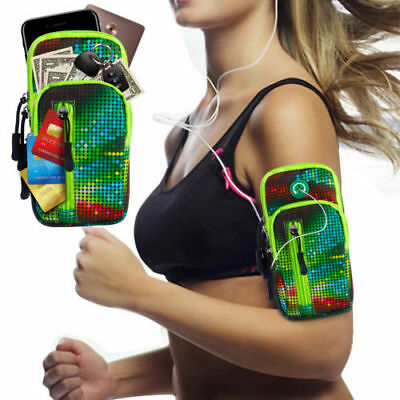 For Cell Phone Sports Armband Bag Running Jogging Gym Arm Band Phone Pouch Case