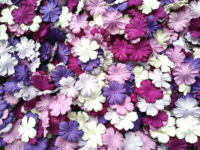 Mixed Purple Tone & White Carnation Flowers Mulberry Paper Card Crafts Wedding