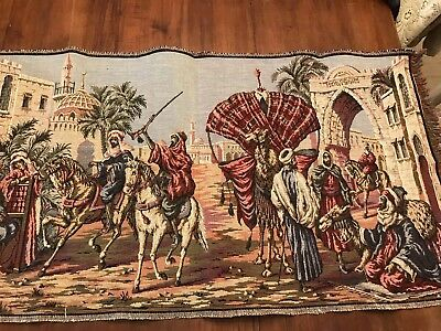 Middle Eastern Tapestry Table Runner 20x36 Inches