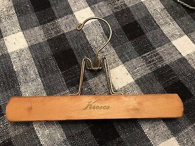 Vintage Pants Hanger Wooden Advertising Kresco (1)