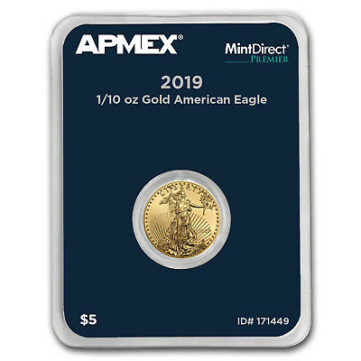 2019 1/10 oz Gold American Eagle (MintDirect® Premier Single) - SKU#171449