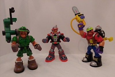 Fisher Price Rescue Heroes Lot of 3 Figures