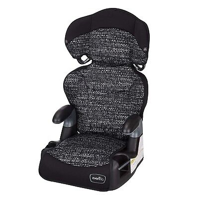 Big Kid AMP High Back Booster Car Seat, Static Black with Evenflo -Free Shipping