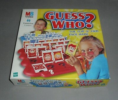 Guess Who MB Fun Family Guessing Board Game COMPLETE *MULTILISTING* RARE