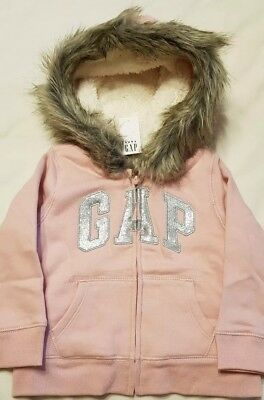 Girl's Gap Pink Zip Up Hoodie In Uk Size 3 Years Bnwt