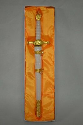 "14"" Fantasy Double Edged Blade Medieval Dagger Stainless Steel"