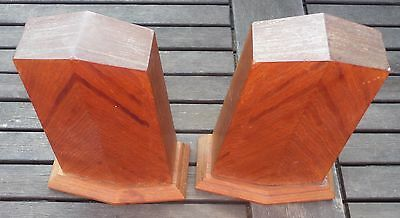 vintage solid wood bookends display home decor treen collectable