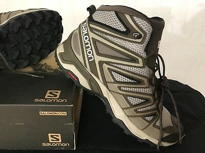 aef3f7f7598 SALOMON MENS X Ultra Mid 3 Aero 11.5 Vintage Kaki Wren Black New Nib Trail  Boot