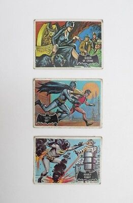Vintage 1966 Batman Cards Lot Of 3 #26,28,47