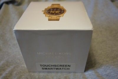 a5bab99d1e70 SEALED in Box Brand New MICHAEL KORS GRAYSON Gold Men s Smartwatch MKT5026