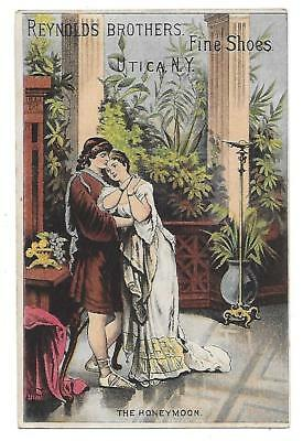 Victorian Trade Card-Reynolds Brothers Fine Shoes-Utica, Ny~~Ann Arbor, Mich.