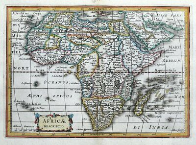 AFRICA A.Goos, Cluver, Jansson original antique map 1661