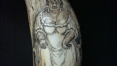 """Faux scrimshaw """"Racheal Pringle""""  of Barbadoes..Reduced to £10.99  (SRP £24.00 +"""